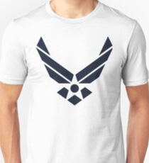 United States Air Force Logo, Blue Unisex T-Shirt