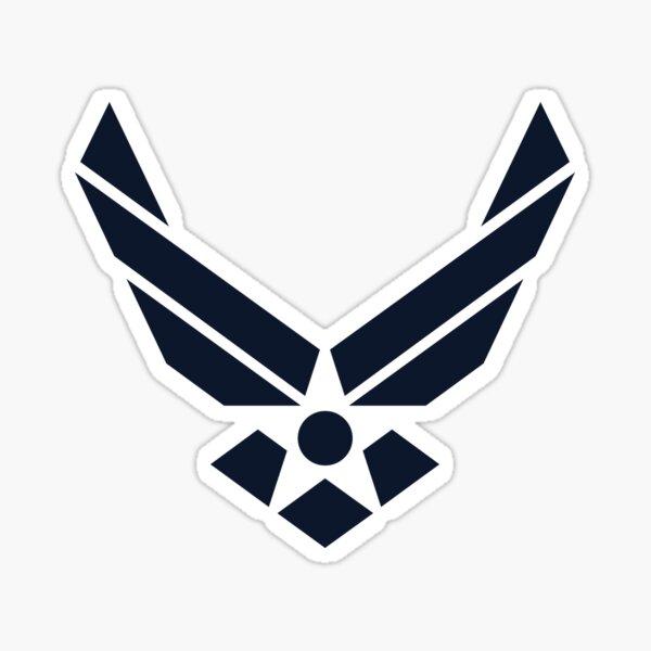 United States Air Force Logo, Blue Sticker