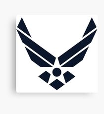 United States Air Force Logo, Blue Canvas Print