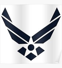 United States Air Force Logo, Blue Poster