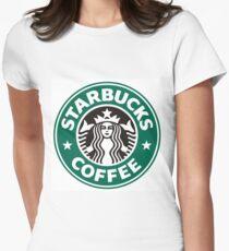 Starbucks coffee logo Women's Fitted T-Shirt