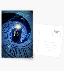 Police Box Time Travel Postcards