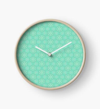 Seafoam Green Splendor by Julie Everhart Clock