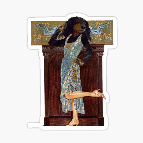 Flapper Doxie Sticker