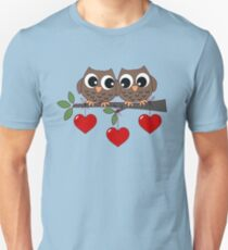 2 Owls My Valentine Day Unisex T-Shirt