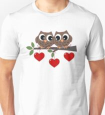 2 Owls My Valentine Day T-Shirt