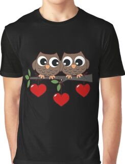 2 Owls My Valentine Day Graphic T-Shirt