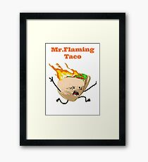 Flaming Taco  Framed Print