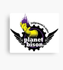 Planet Bison Fitness Canvas Print