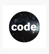 Code. Photographic Print