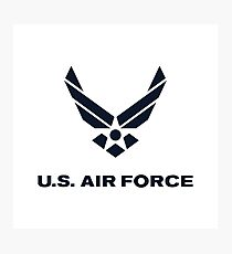 United States Air Force, US Air Force, Complete Logo Photographic Print