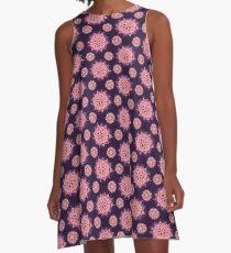 Purple Mandala A-Line Dress