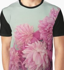 Shades of Pink Peonies Graphic T-Shirt