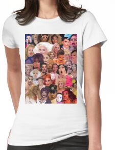 Iconic Drag Queens Collage Womens Fitted T-Shirt