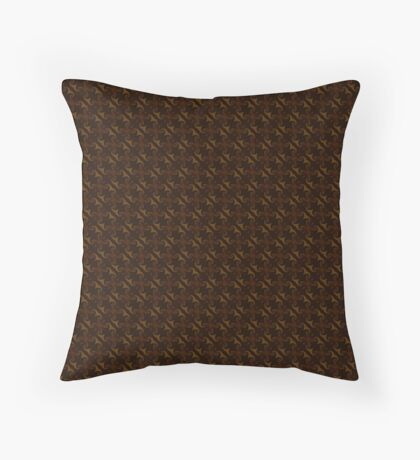 Rich Brown by Julie Everhart Throw Pillow
