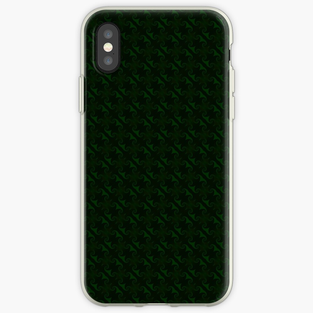 Hunter Green Design by Julie Everhart iPhone Cases & Covers