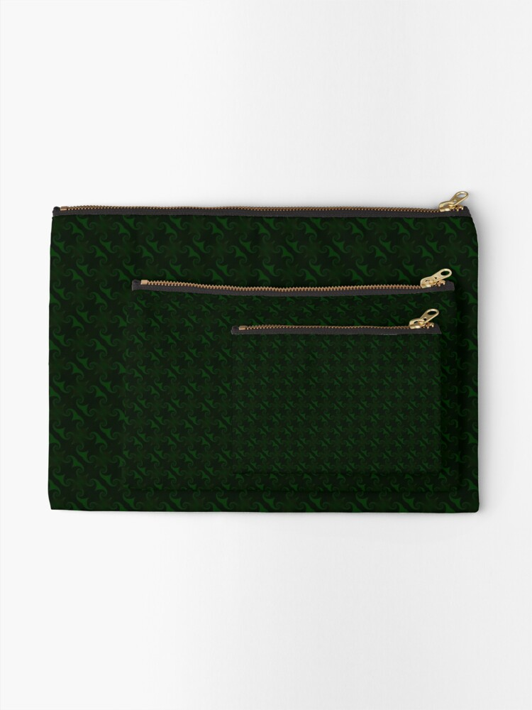 Alternate view of Hunter Green Design by Julie Everhart Zipper Pouch