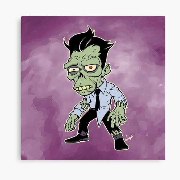 Disappointed Zombie version 2 Canvas Print