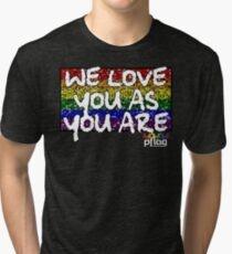 We Love You As You Are - PFLAG Capital Region Mardi Gras Shirt 2017 Tri-blend T-Shirt