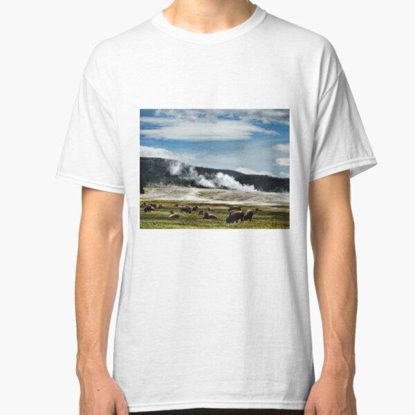 Grazing Geyser Basin Classic T-Shirt