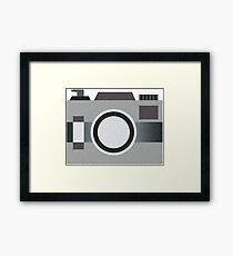 Retro Old-time Camera, Gray Framed Print