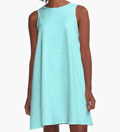 Aqua Blue A-Line Dress