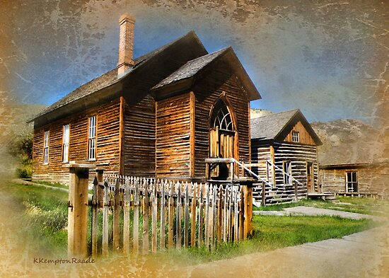 Church in Bannack, Montana by kayzsqrlz