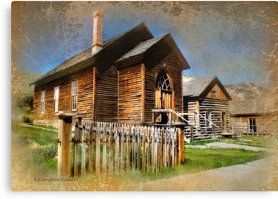 Church in Bannack, Montana by kayzsqrlz