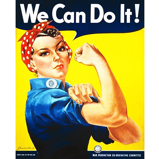 we can do it 1943 us wartime propaganda poster by 45thaveartco