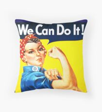 We Can Do It! (1943) - US Wartime Propaganda Poster Throw Pillow