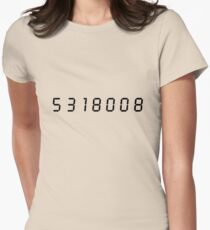 5318008 (Black) Womens Fitted T-Shirt