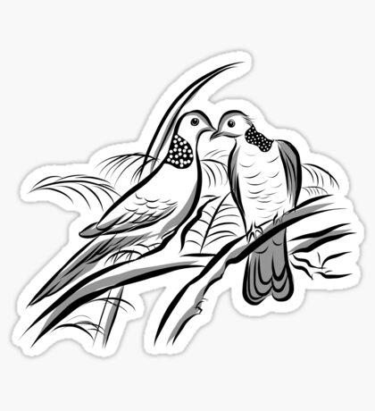 Love Bird Couple - Happy Valentines Day Sticker