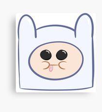 Cute Baby Finn Face (Adventure Time) - Pesty Canvas Print