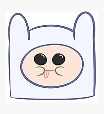 Cute Baby Finn Face (Adventure Time) - Pesty Photographic Print
