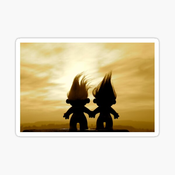 troll lovers in sepia Sticker