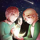 Mystic Messenger - Yooran Moon & Star by Blimpcat
