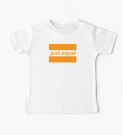 First Edition just.equal logo Baby Tee