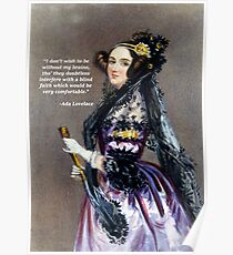 Ada Lovelace (Portrait by Alfred Chalon) Poster