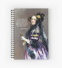 Ada Lovelace (Portrait by Alfred Chalon) Spiral Notebook
