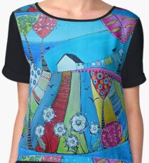 Little house on the hill Chiffon Top
