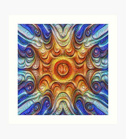 Frozen Sun #DeepDream #Art Art Print