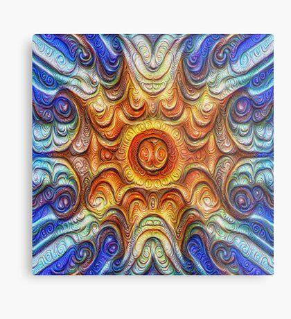 Frozen Sun #DeepDream #Art Metal Print