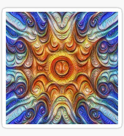 Frozen Sun #DeepDream #Art Sticker