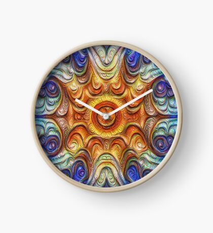 Frozen Sun #DeepDream #Art Clock