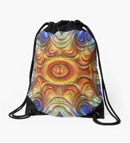 Frozen Sun #DeepDream #Art Drawstring Bag