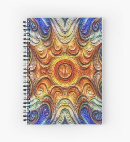 Frozen Sun #DeepDream #Art Spiral Notebook