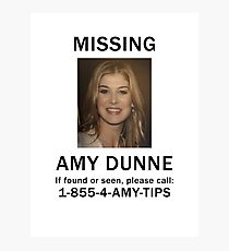 Amy Dunne Missing Poster Photographic Print