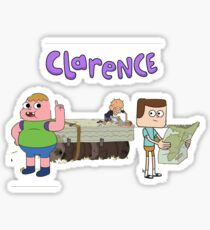 Clarence and friends  Sticker