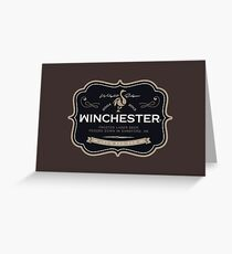 Winchester, Cold Pint, Wait Greeting Card