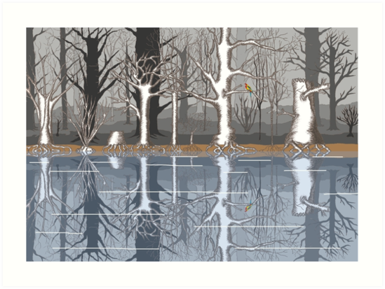Forest reflections by David Fraser